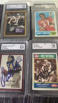 Lot of  4 Autographed Football Cards PSA/DNA certified Reno, 89519