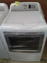 white and black Samsung front-load clothes washer null