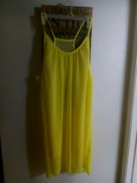yellow and black sleeveless dress Vancouver, 98665