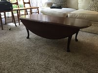 Coffee table with folding sides and matching side table. Good condition . 516 mi