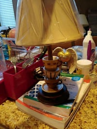 brown and white table lamp 26 mi