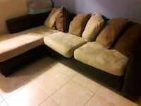 brown and black sectional couch Fort Lauderdale, 33308