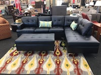 BRAND NEW Black Sectional w/ Ottoman  Virginia Beach, 23455