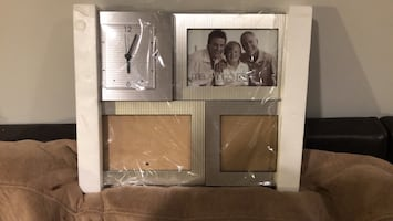 Desk Picture frame with clock