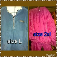 two pink and blue zip-up jackets Moss Point, 39562