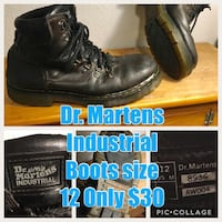pair of black leather work boots Portland, 97219