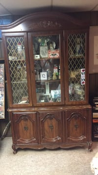 brown wooden framed glass display cabinet Arlington, 22207