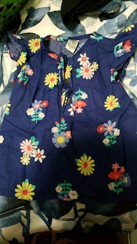 blue and yellow floral print dress Surrey, V3W 2N6