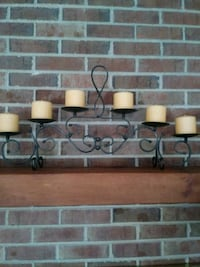 Wrought iron candle decor