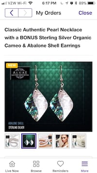 Abalone and cameo earrings brand new Reston, 20190