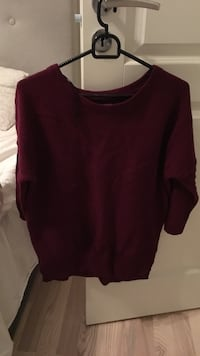 maroon scoop-neck genser Furnes, 2320
