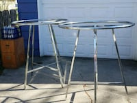 stainless steel frame glass top table Ankeny, 50023