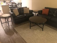black leather sectional sofa with coffee table Anaheim, 92808