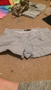 women's black-and-white pinned stripe hot shorts Nanaimo, V9T 3H6