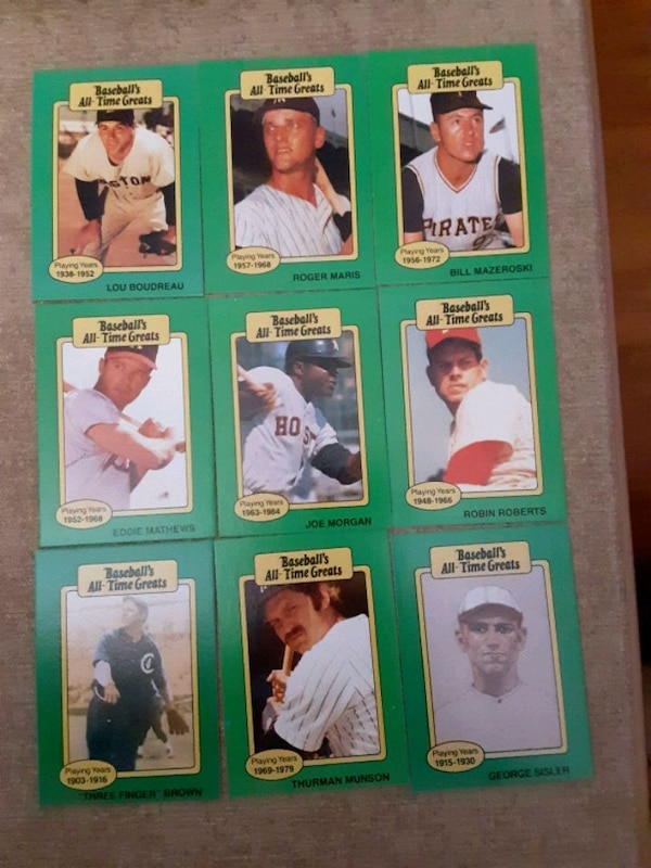 1987 Baseballs All Time Greats 100 Cards