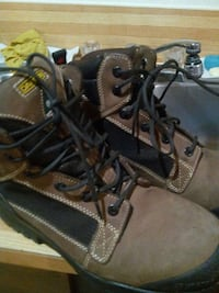 brown and black work boots Calgary, T1Y 2W6