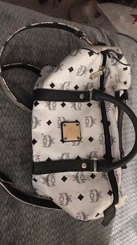 White and black leather tote bag Lancaster, 93536