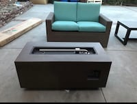 """42"""" Long Rectangle Fire Pit brown New 2255 mi"""