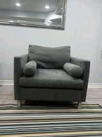gray fabric sofa chair with throw pillow Toronto, M6B 2C8