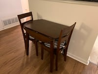 Collapsable table and 2 chairs  Quincy