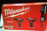 Milwaukee New Tool:KIT M12: Impact, Drill, Charge,2 Batteries and Bag Kit Nuevo 12 Voltios Los Angeles, 91343