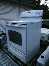 white and black induction range oven Rochester, 14611