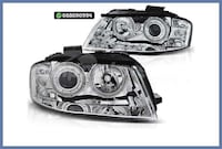 FAROS ANGEL EYES CROMO AUDI A3 8P / 8PA MADRID
