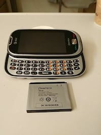 black AT&T qwerty slide phone Portland