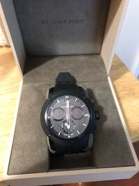 round black chronograph watch with black strap Los Angeles, 91343