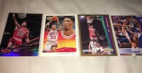 four Scottie trading cards