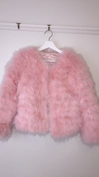 Pink Fur Jacket (size Small)