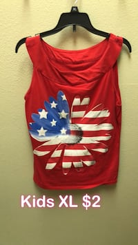 red and white crew-neck shirt Bakersfield, 93311