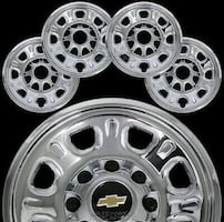 2004-2010 Chevy Silverado HD 16 inch Chrome wheel covers.