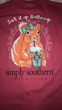 Pink Simply Southern Tee Size YM Knoxville