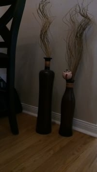 African Style Decor Jars With Straw Newmarket, L3Y 2B9