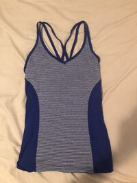 women's blue and white striped tank top Barrie