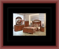11pc Ashley Cherry bedroom set with mattress Herndon, 20171