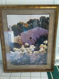 white and yellow petaled flowers painting and brown frame San Jose, 95116