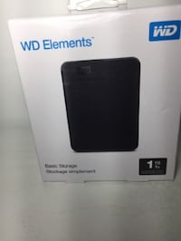NEW in the box! WD Elements 1TB USB 3.0 Portable Hard Drive TORONTO
