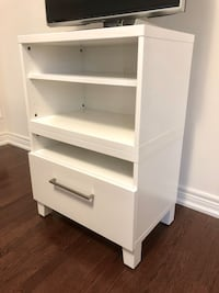 TV rack with media storage drawer