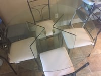 Glass table with chairs Fallbrook, 92058