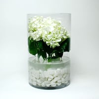 "16"" x 10"" Glass Cylinder Vases. (3 pieces)"