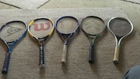 Five  top of the line tennis racquets take them all for  null, V0X