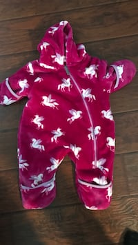 Minky Bunting Suit -Like New Hatley 6-9 month Super soft Coquitlam