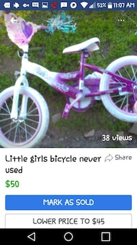 Girls bicycle never used  Oakdale, 95361