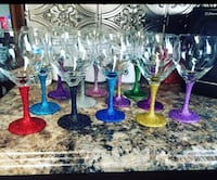 Colorful Glittered Wine Glasses Omaha, 68102