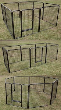 New in box 32 inch tall x 32 inches wide each panel x 8 panels exercise playpen fence safety gate dog cage crate kennel for pet