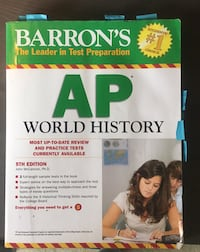 AP World History textbook with notes