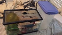 Hamster Aquarium with  misc hamster goods + dog food container Austin, 78702