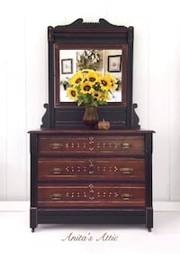 Antique Eastlake Dresser and Mirror Glenwood, 21738